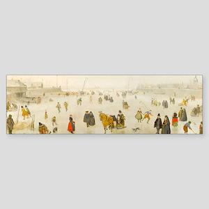 A Scene on the Ice by Hendrick Avercamp Bumper Sti