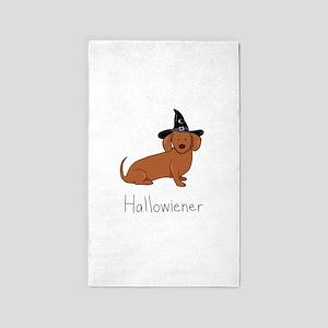 Hallowiener - Halloween Wiener Dog (Dachs Area Rug