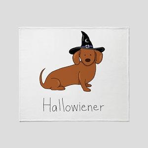 Hallowiener - Halloween Wiener Dog ( Throw Blanket