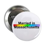 """Married in Massachusetts 2.25"""" Button (10 pack)"""