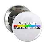 Married in Massachusetts Button