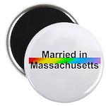 """Married in Massachusetts 2.25"""" Magnet (100 pack)"""