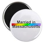 """Married in Massachusetts 2.25"""" Magnet (10 pack)"""