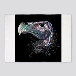 Lappet faced vulture 5'x7'Area Rug