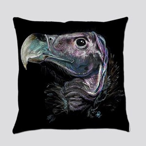 Lappet faced vulture Everyday Pillow