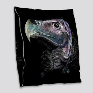 Lappet faced vulture Burlap Throw Pillow