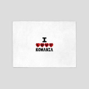 I Love Romania 5'x7'Area Rug