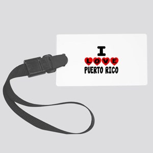 I Love Puerto Rica Large Luggage Tag