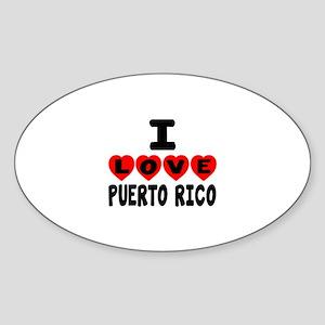 I Love Puerto Rica Sticker (Oval)