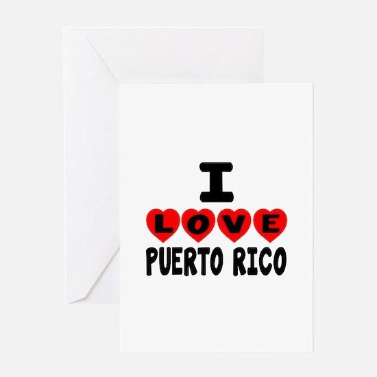 I Love Puerto Rica Greeting Card