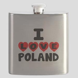 I Love Poland Flask