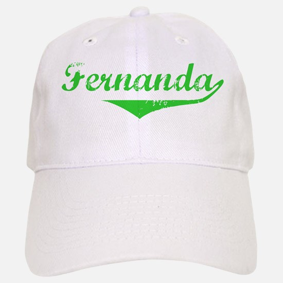 Fernanda Vintage (Green) Baseball Baseball Cap