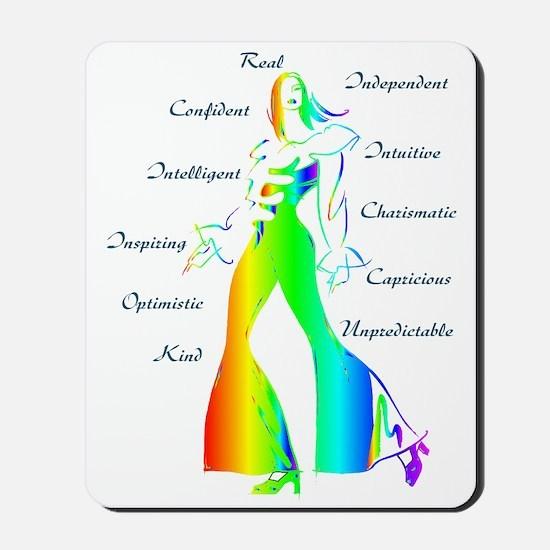 Essence of Woman - Rainbow Mousepad
