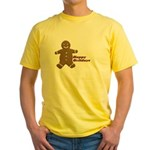 Happy Holidays Gingerbread Yellow T-Shirt