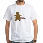 Happy Holidays Gingerbread White T-Shirt