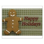 Happy Holidays Gingerbread Small Poster