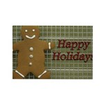 Happy Holidays Gingerbread Rectangle Magnet (10 pa