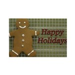 Happy Holidays Gingerbread Rectangle Magnet