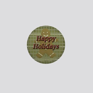 Happy Holidays Gingerbread Mini Button