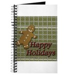 Happy Holidays Gingerbread Journal