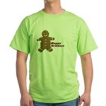 Happy Holidays Gingerbread Green T-Shirt