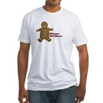 Happy Holidays Gingerbread Fitted T-Shirt
