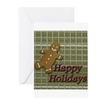 Happy Holidays Gingerbread Greeting Cards (Pk of 1