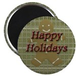 Happy Holidays Gingerbread Magnet