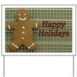 Happy Holidays Gingerbread Yard Sign