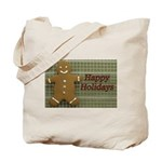 Happy Holidays Gingerbread Tote Bag