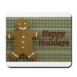 Happy Holidays Gingerbread Mousepad