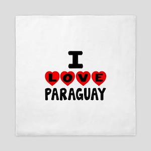 I Love Paraguay Queen Duvet