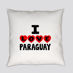 I Love Paraguay Everyday Pillow