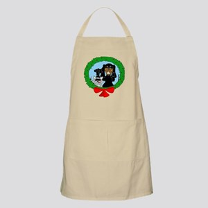 Black and Tan Coonhound Christmas BBQ Apron