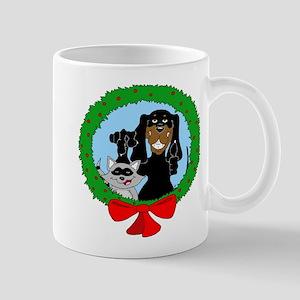 Black and Tan Coonhound Christmas Mug