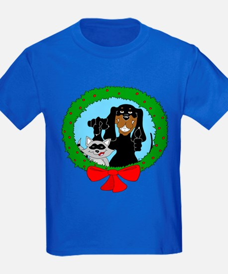 Black and Tan Coonhound Christmas T
