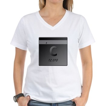 Carbon (C) Women's V-Neck T-Shirt
