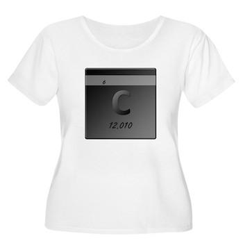 Carbon (C) Women's Plus Size Scoop Neck T-Shirt