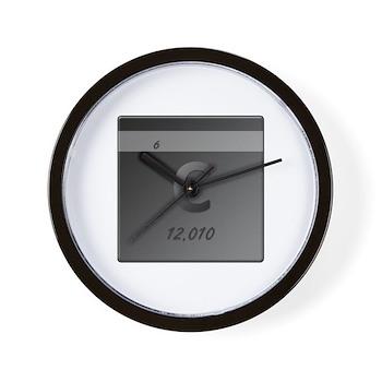 Carbon (C) Wall Clock
