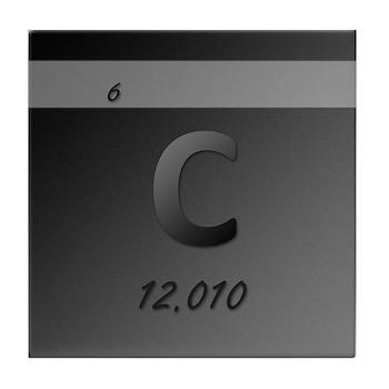Carbon (C) Tile Coaster