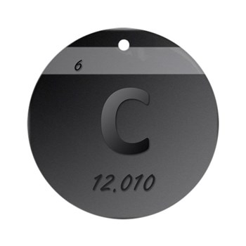 Carbon (C) Round Ornament