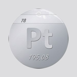 Platinum (Pt) Round Ornament