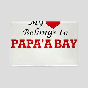 My Heart Belongs to Papa'A Bay Hawaii Magnets