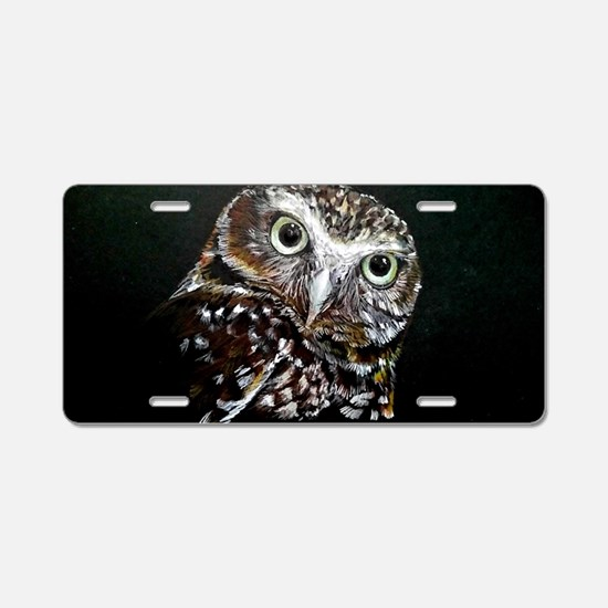 Cute Bird of prey Aluminum License Plate