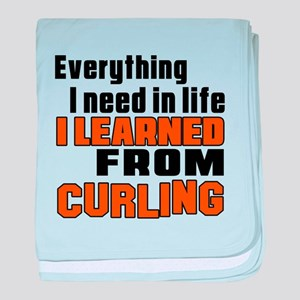 Everything I Learned From Curling baby blanket