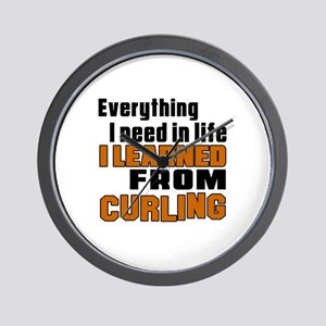 Everything I Learned From Curling Wall Clock
