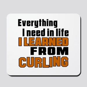 Everything I Learned From Curling Mousepad