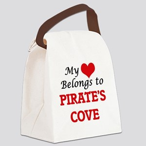 My Heart Belongs to Pirate'S Cove Canvas Lunch Bag