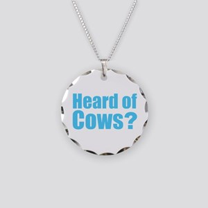 Cows Necklace Circle Charm