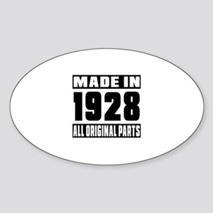 Made In 1928 Sticker (Oval)